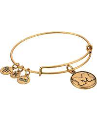 ALEX AND ANI - University Of Michigan (rafaelian Gold) Bracelet - Lyst