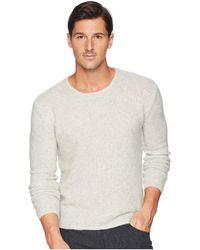 John Varvatos - Tuck Stitch Long Sleeve Crew Y2476u3 (silver) Men's Sweater - Lyst