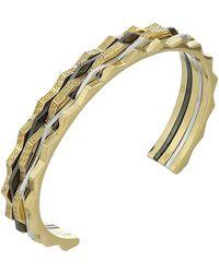 Versace - Tricolor Cuff Bracelet - Lyst