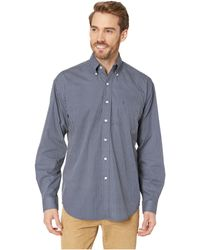 27db0015 Lyst - Stetson Streetlights Long Sleeve Snap Front Shirt in Blue for Men