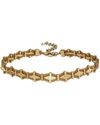 Lucky Brand - Waxed Leather Choker Necklace (gold) Necklace - Lyst