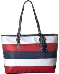 30e9728ccfd Tommy Hilfiger - Julia Tote Rugby Nylon (navy/natural) Handbags - Lyst