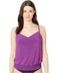 Magicsuit - Solid Dd Justina Tankini (amethyst) Women's Swimwear - Lyst