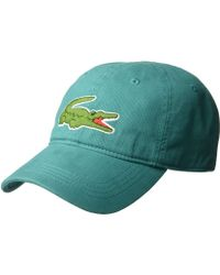 Lacoste - Big Croc Gabardine Cap (inkwell) Baseball Caps - Lyst fb4ceef9101