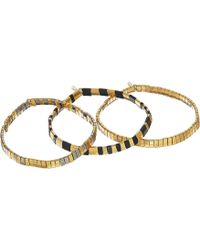Shashi - Set Of 3 Tilu Bracelet (gold Multi) Bracelet - Lyst