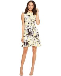 Donna Morgan | Sleeveless Printed Crepe With Ruffle Skirt | Lyst
