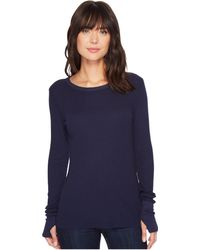 Michael Stars - Thermal Long Sleeve Raw Edge Crew W/ Thumbholes - Lyst