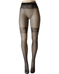 06c9ea246 Pretty Polly Geo Shine Print Tights (black) Hose in Black - Lyst