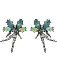 Betsey Johnson - Stone Fairy Stud Earrings (blue) Earring - Lyst
