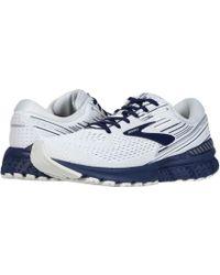 288e784f2 Lyst - Brooks Adrenaline Gts 19 (white grey navy) Men s Running ...
