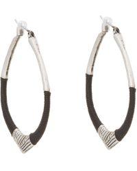 The Sak - String Forward Third Arabesque Hoop Earring - Lyst
