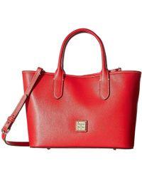Dooney & Bourke - Saffiano Brielle (black/black Trim) Handbags - Lyst