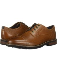 Nunn Bush - Overland Cap Toe Oxford With Kore Walking Comfort Technology (tan Ch) Men's Lace Up Cap Toe Shoes - Lyst