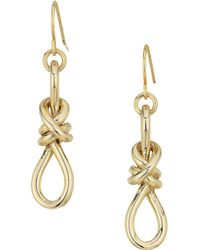 Lauren by Ralph Lauren - Classic Metal Knots Drop Earrings - Lyst