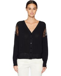 Fuzzi - Solid Lace Cardigan (nero) Women's Sweater - Lyst