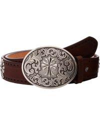 Ariat - Perforated Edge Cross Belt (tan) Women's Belts - Lyst