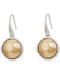The Sak - Metal Inlay Circle Drop Earrings - Lyst