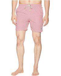 Psycho Bunny - Linear Floral Print Swim Trunks (hydrangea) Men's Swimwear - Lyst