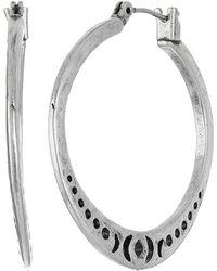 Lucky Brand - Floral Openwork Hoop Earrings (silver) Earring - Lyst