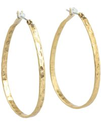 Lucky Brand - Textured Medium Oblong Hoops (gold) Earring - Lyst