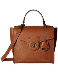 f49489480c2 Lauren by Ralph Lauren - Millbrook Top Handle Crossbody Satchel (burnt  Orange) Handbags -