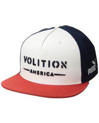 c1d836acfdd PUMA - Volition Camo Snapback Cap (white) Baseball Caps - Lyst