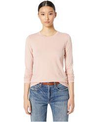 Vince - Essential Long Sleeve Crew (blush Dune) Women's T Shirt - Lyst