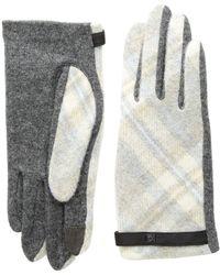 Lauren by Ralph Lauren - Plaid Touch Gloves (dark Grey Plaid) Extreme Cold Weather Gloves - Lyst