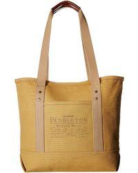 Pendleton - Canvas Tote (harvest Tan) Tote Handbags - Lyst