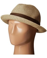 San Diego Hat Company | Ubf1017 Mixed Paper Braid Fedora Hat With Ribbon Trim | Lyst