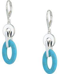 Lauren by Ralph Lauren - Turquoise Link Drop Earrings (turquoise) Earring - Lyst