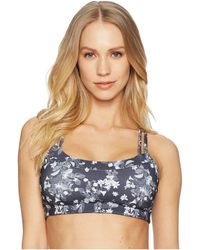 The North Face - Motivation Strappy Bra (urban Navy Shibori Print) Women's Bra - Lyst