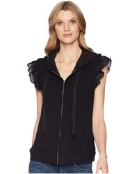 B Collection By Bobeau - Keeley Ruffle Hoodie - Lyst