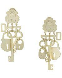 Tory Burch - Surreal Lock And Key Earrings (gold) Earring - Lyst