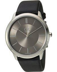 Calvin Klein - Minimal Watch - K3m211c4 (dark Grey/black) Watches - Lyst