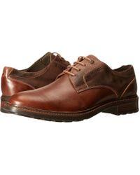 Josef Seibel - Oscar 05 (black Oregon/kombi) Men's Plain Toe Shoes - Lyst
