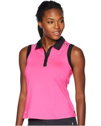 adidas Originals - Ultimate Two-tone Sleeveless Polo (real Purple) Women's Clothing - Lyst