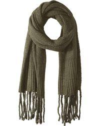 Free People - Jaden Ribbed Fringe Blanket Scarf (green) Scarves - Lyst