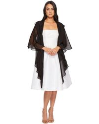Betsey Johnson - Two Tiered Ruffle Draped Evening Wrap - Lyst