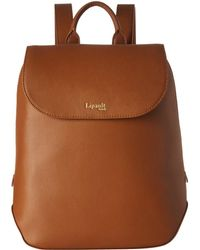 Lipault - Plume Elegance Leather Small Backpack (cognac) Backpack Bags - Lyst