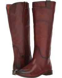 Frye - Paige Tall Riding (black Smooth Vintage Leather) Women's Pull-on Boots - Lyst