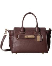 COACH - Swagger Carryall 27 In Pebble Leather - Lyst
