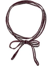 Chan Luu - 42' Viscose Chiffon Solid Necklace Or Bracelet With Beaded Trim - Lyst