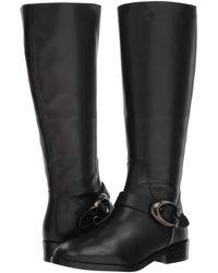 COACH - Brynn Signature Buckle Riding Boot (black Extra Calf) Women's Boots - Lyst