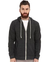 Threads For Thought - Triblend Zip Front Hoodie (heather Black) Men's Sweatshirt - Lyst
