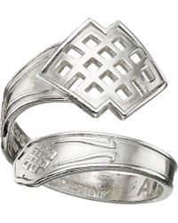 ALEX AND ANI - Spoon Ring (silver Endless Knot) Ring - Lyst