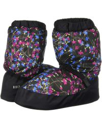 Bloch - Printed Warm Up Booties (vanilla Floral) Women's Shoes - Lyst