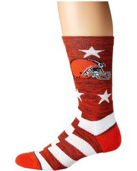 Stance - Nfl Browns Banner (brown) Men's Crew Cut Socks Shoes - Lyst