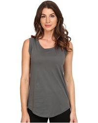 Alternative Apparel - Cap Sleeve Crew (black) Women's T Shirt - Lyst