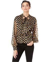Astr - Lennox Top (black/gold Dot) Women's Clothing - Lyst